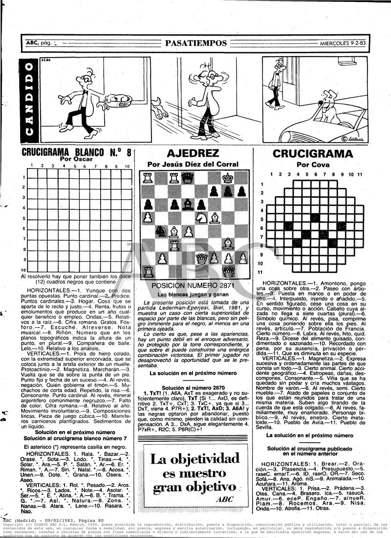 1983 Los primeros Crucigramas Blancos con mi Nombre